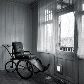 House of the Strange Wheelchair 175x175 bw